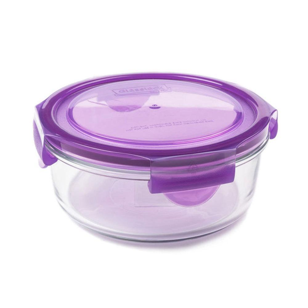 Grape Wean Green Glass Meal Bowl - Naked Baby Eco Boutique