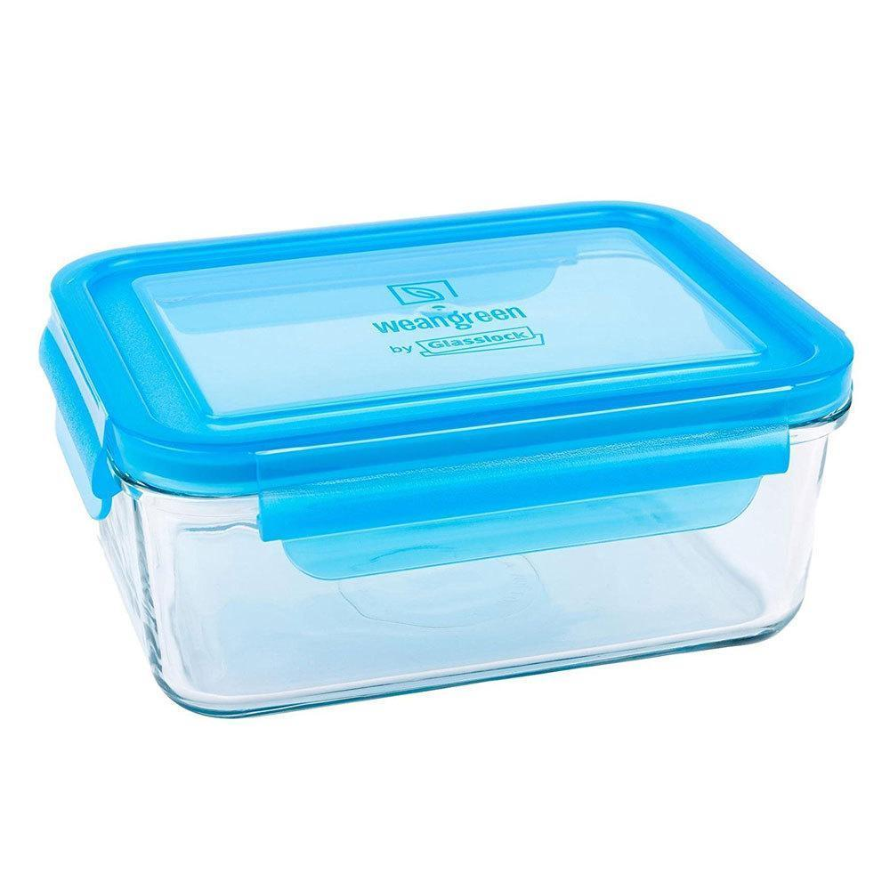 Blueberry Wean Green Glass Meal Cube - Naked Baby Eco Boutique
