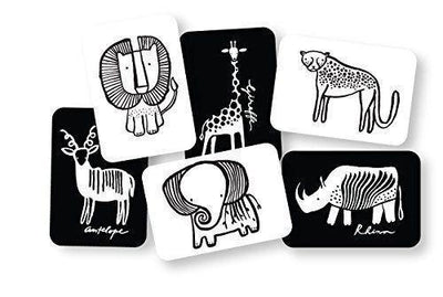 Safari Wee Gallery Art Cards for Baby - Naked Baby Eco Boutique
