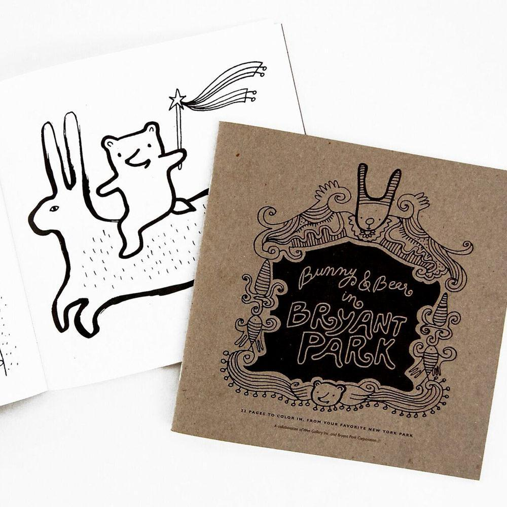 "Wee Gallery ""Bunny & Bear in Bryant Park"" Colouring Book - Naked Baby Eco Boutique"