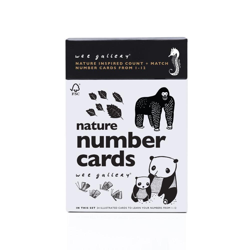 Wee Gallery Nature Number Flash Cards - Naked Baby Eco Boutique