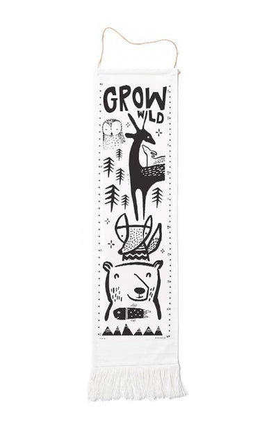 Woodland Wee Gallery Organic Cotton Growth Chart (Multiple Variants) - Naked Baby Eco Boutique