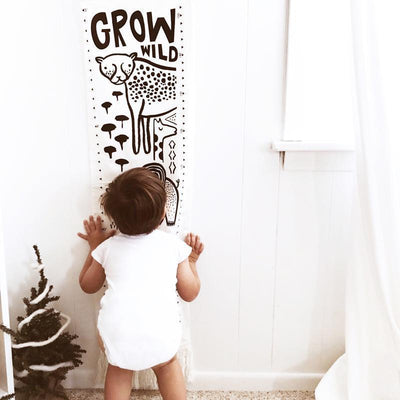 Bloom Wee Gallery Organic Cotton Growth Chart (Multiple Variants) - Naked Baby Eco Boutique