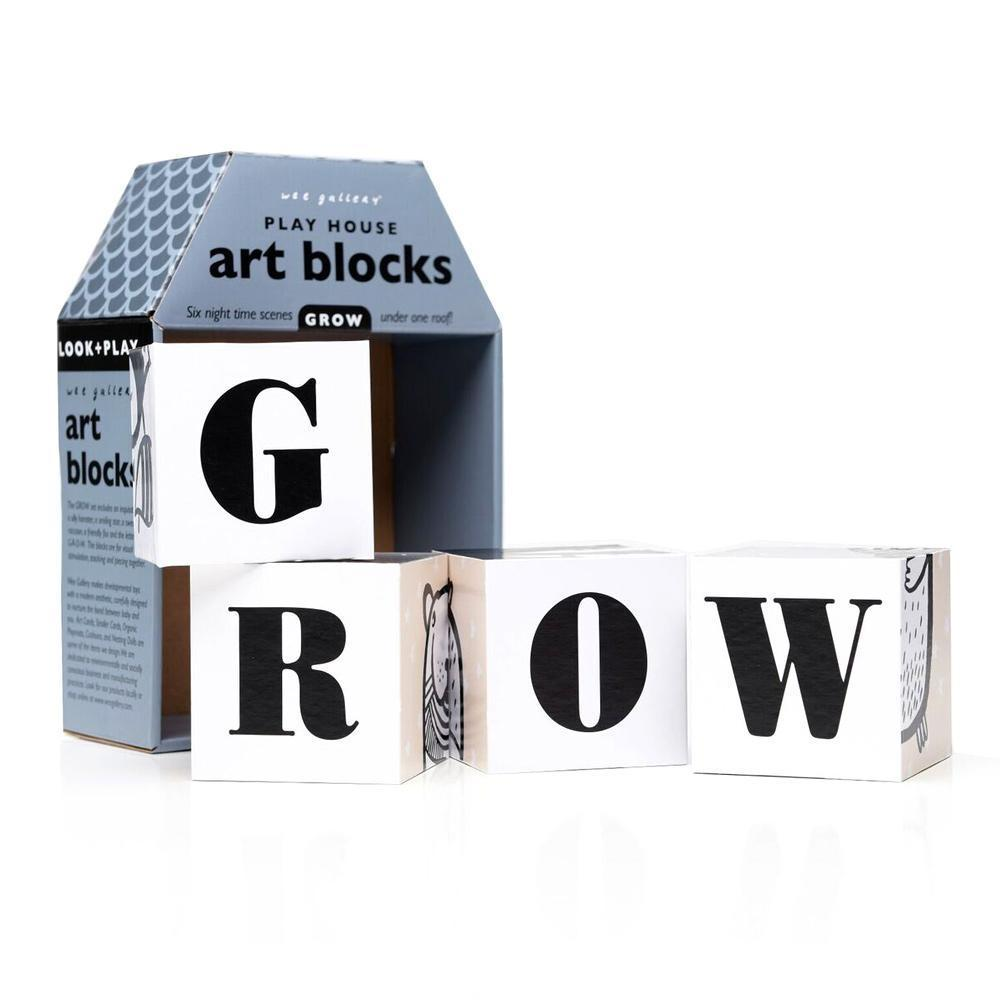 Grow Wee Gallery Play House Art Blocks - Naked Baby Eco Boutique