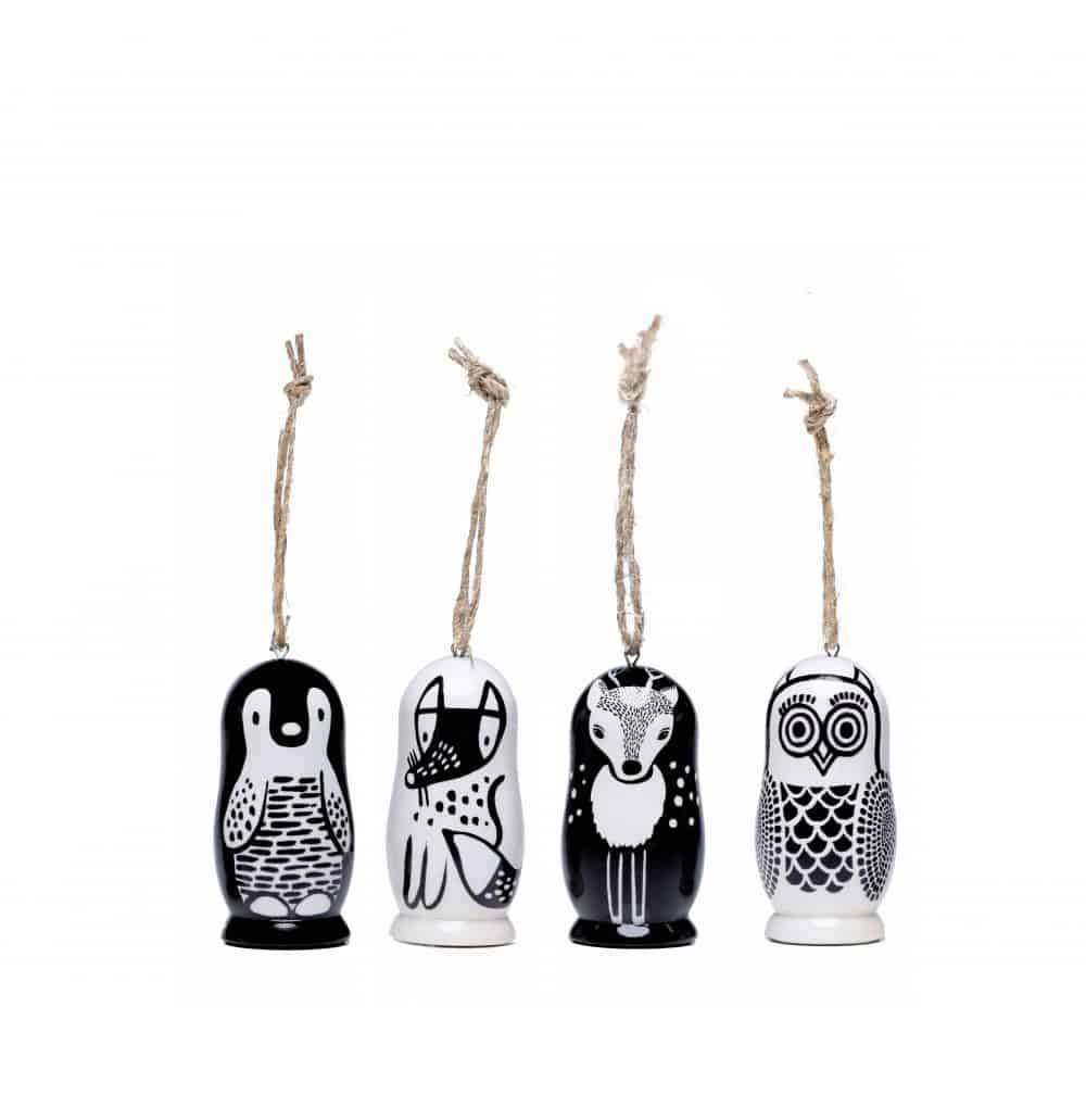 Wee Gallery Wooden Christmas Ornaments - Naked Baby Eco Boutique
