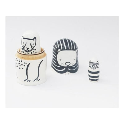 Cats Wee Gallery Wooden Nesting Dolls - Naked Baby Eco Boutique