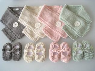 Chocolate / Chocolate / 0-3 Months Weebits Mary Janes & Button Scarf Gift Set - Naked Baby Eco Boutique
