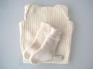 0-3 Months Weebits Vest & Socks Gift Set - Naked Baby Eco Boutique