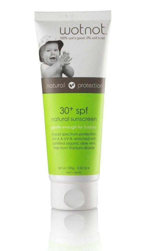 WOTNOT 30+ SPF Baby Sunscreen - Naked Baby Eco Boutique - New Zealand Eco Friendly Organic Baby Products