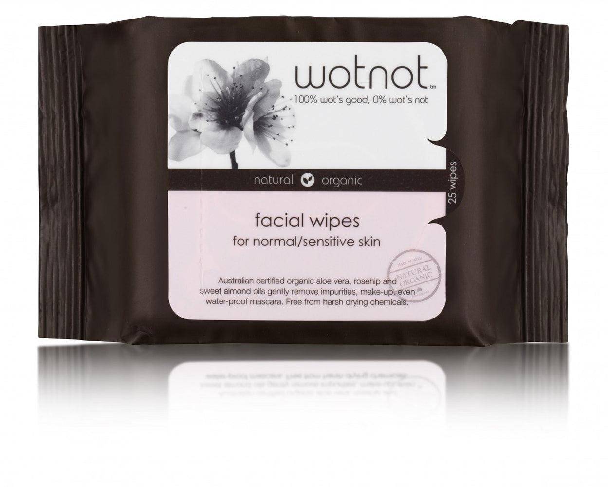 WOTNOT Natural Organic Facial Wipes - Naked Baby Eco Boutique - New Zealand Eco Friendly Organic Baby Products
