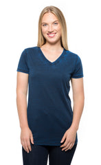 215B • Womens Cross Dye Short-Sleeve V-Neck Tee