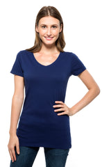 230B • Womens Pigment Dye Short-Sleeve V-Neck Tee