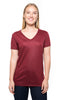 240RV • Womens Liquid Jersey Short-Sleeve V-Neck Tee
