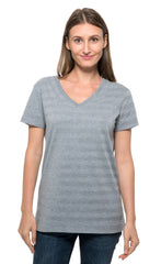 252RV • Womens Invisible Stripe Short-Sleeve V-Neck Tee