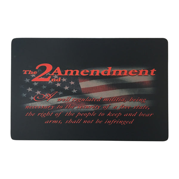 "2nd Amendment Gun Cleaning Mat 11""x17""x 3mm Rubber & Polyester Finish"