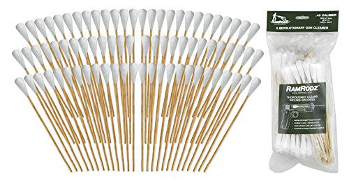 RamRodz .45/.44 Caliber Gun Cleaning Swabs - 6 Pack (600 Quantity) Free Shipping