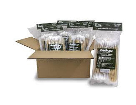 RamRodz .40/10mm Caliber Gun Cleaning Swabs - 6 Pack (600 Quantity) Free Shipping