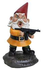 "Garden Gnome ""Say Hello To My Little Friend"" 6 inchs  Free shipping"