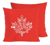 Red/White Maple Leaf Pillow