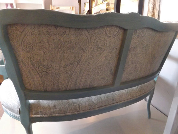 Rear View of French Framed Bench
