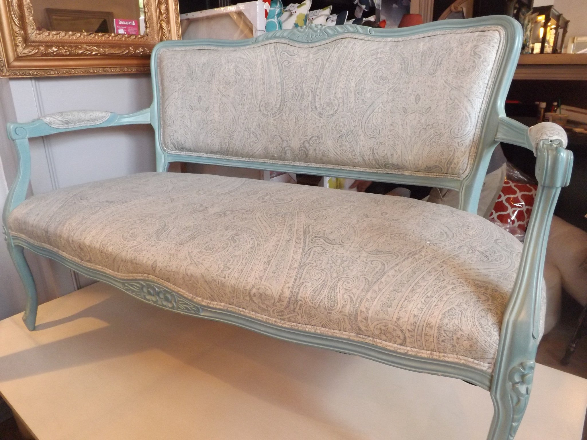 Front View of French Framed Bench