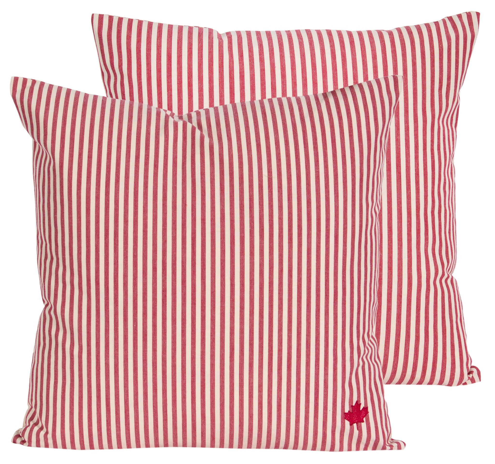 The Maple Leaf Striped Pillow