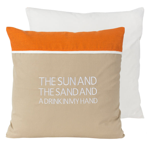 Sun & Sand - Drink in Hand Pillow