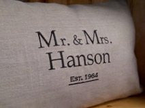 "Personalized ""Union"" Pillow"