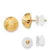 14K YELLOW GOLD POLISHED AND DIAMOND-CUT 9MM BUTTON POST EARRINGS PUSH BACK