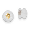 14K YELLOW GOLD SILICONE SLIDERS SCREW BACK MUSHROOM 1 PAIR