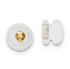 14K YELLOW GOLD SILICONE SLIDERS MUSHROOM 1 PAIR