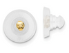 14K YELLOW GOLD SILICONE SLIDERS DISK 1 PAIR