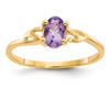 14K YELLOW GOLD AMETHYST BIRTHSTONE RING