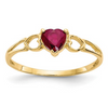 14K YELLOW GOLD RUBY BIRTHSTONE RING