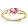 14K YELLOW GOLD PINK TOURMALINE BIRTHSTONE RING