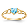 14K YELLOW GOLD BLUE TOPAZ BIRTHSTONE RING