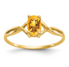 14K YELLOW GOLD CITRINE BIRTHSTONE RING
