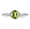 14K WHITE GOLD PERIDOT BIRTHSTONE RING