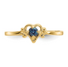14K YELLOW GOLD SYNTHETIC ALEXANDRITE BIRTHSTONE HEART RING