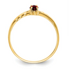 14K YELLOW GOLD GARNET BIRTHSTONE RING