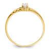 14K YELLOW GOLD WHITE TOPAZ BIRTHSTONE RING