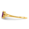 14K YELLOW GOLD RHODOLITE GARNET BIRTHSTONE RING