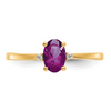 14K YELLOW GOLD DIAMOND AND RHODOLITE GARNET BIRTHSTONE RING