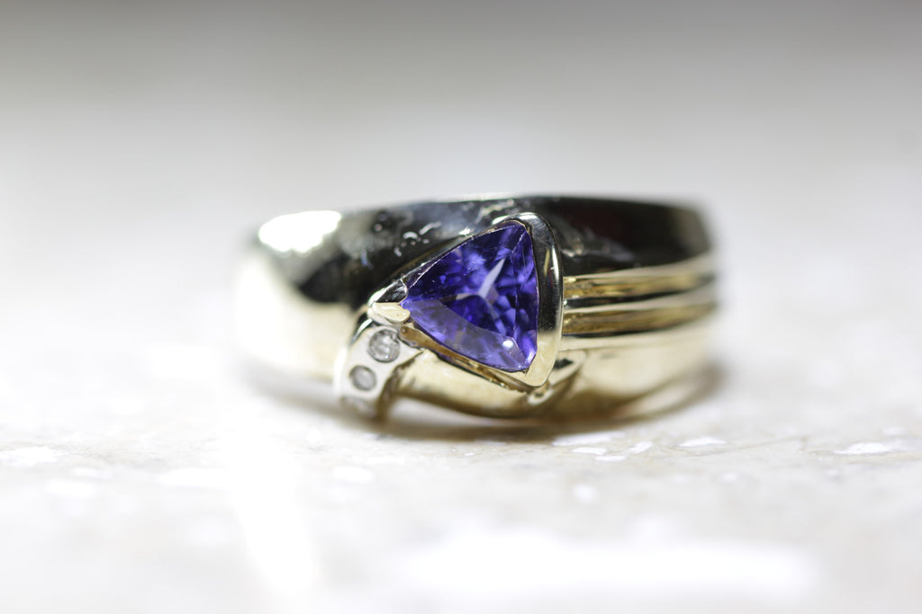 of diamond ring in gold bluberry chocolate le vian tanzanite unique strawberry wedding with
