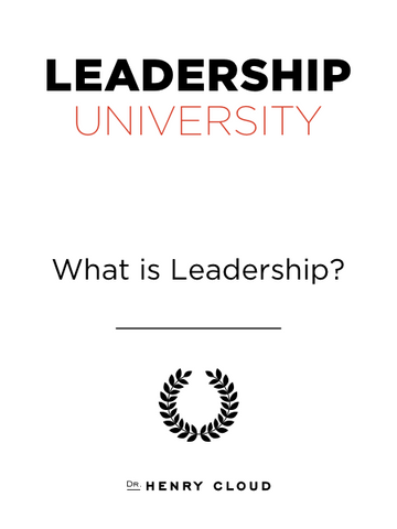 Leadership University - What Is Leadership? - Standalone Module