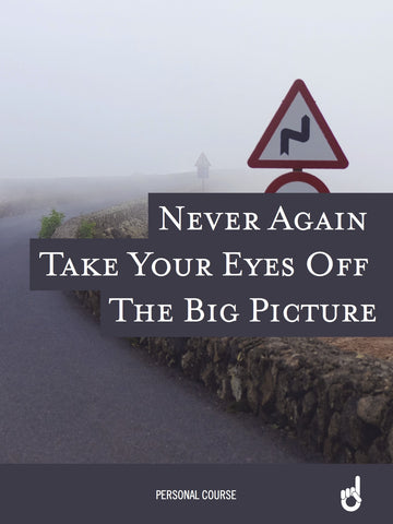 'Never Go Back' Workbook:  Never Again Take Your Eyes Off the Big Picture