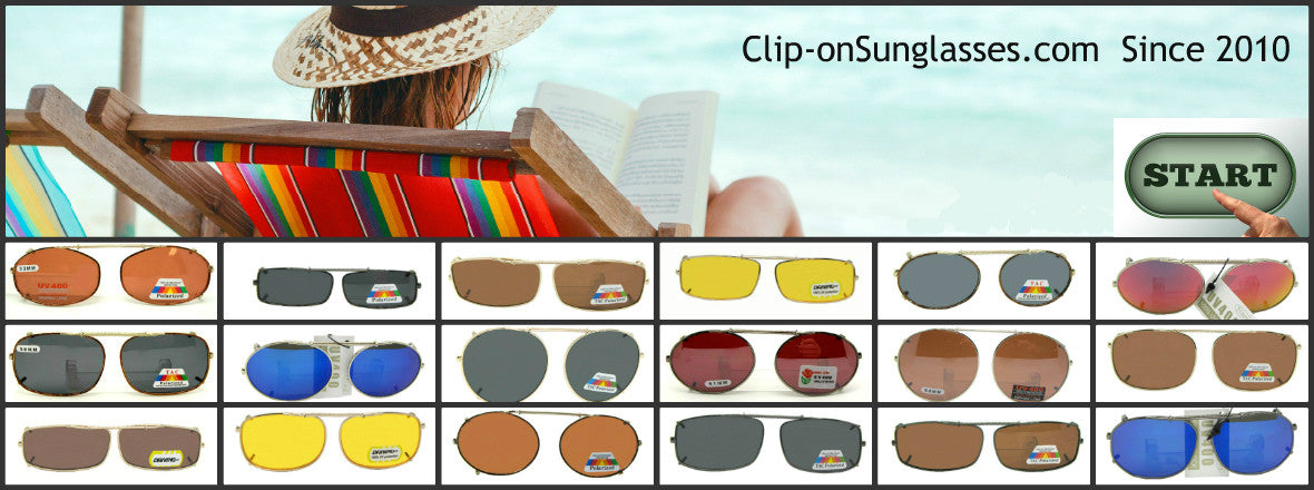 Start here for help finding the right size clip-on for your glasses.