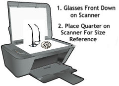 Scanning Glasses For Clip-on Sunglasses Assistance