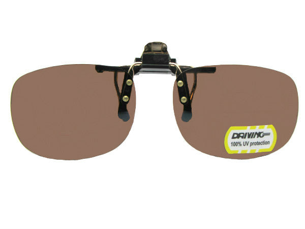 Rectangle Non Polarized Amber Flip-up Black Frame