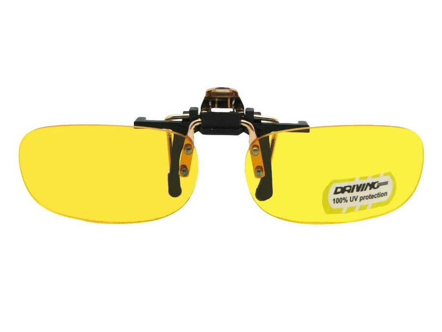Skinny Curved Rectangle Yellow Non Polarized Flip Up